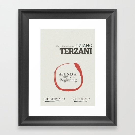 Tiziano Terzani, Bruno Ganz, Germano, The end is my beginning. La fine è il mio inizio, Movie Poster Framed Art Print