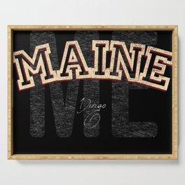 Maine Vintage Retro Collegiate Serving Tray