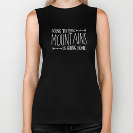 Going to the Mountains, Tetons Landscape Biker Tank
