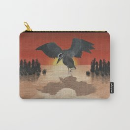 Blue Heron Reflection Carry-All Pouch