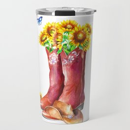 Western Sunflower Travel Mug