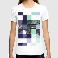 eiffel T-shirts featuring EIFFEL by Marcela Solana