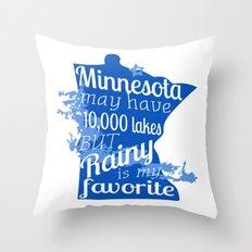 Rainy Lake Love Throw Pillow