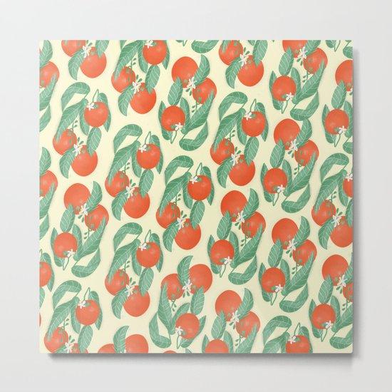 Orange Pattern Metal Print