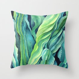 Euphorbia Cactus Throw Pillow