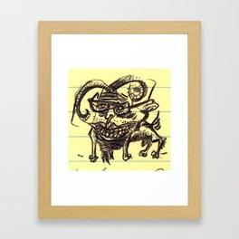 goatee (en Greenfield) Framed Art Print
