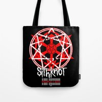 sith Tote Bags featuring Sithknot (People=Sith) by Ant Atomic