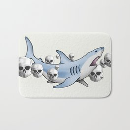 Shark & Skulls Bath Mat