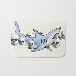 Shark & Skulls Bath Mat