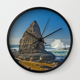 A rock formation on the Costa Vicentina, Portugal Wall Clock