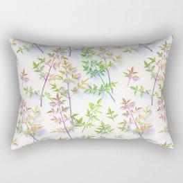 Leaves in the Light Rectangular Pillow