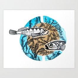 Sticklebacks Art Print