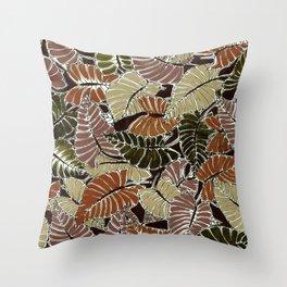 50's bongo leaf Throw Pillow