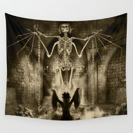 Dark Victorian Portrait Series: Lady Charlotte Nightshade, Her Majesty's Necromancer Wall Tapestry