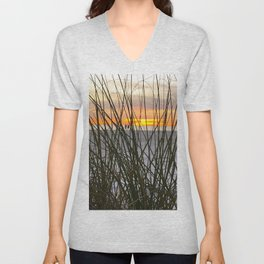 A Walk on the Beach Unisex V-Neck