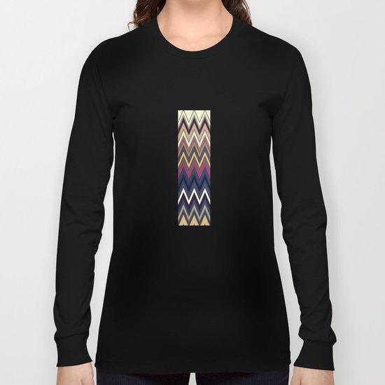Pattern  V Long Sleeve T-shirt