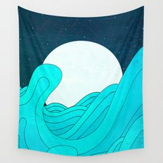 The Moon and the Sea Wall Tapestry