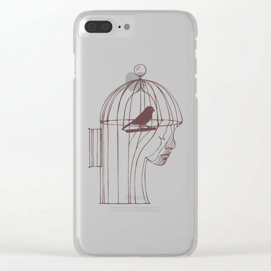 Be Alone Clear iPhone Case