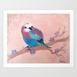 Colorful Birdie Art Print