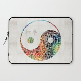 Yin And Yang - Colorful Peace - By Sharon Cummings Laptop Sleeve