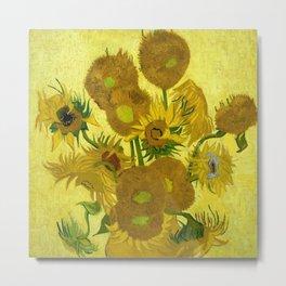 "Vincent van Gogh ""Vase with Fourteen Sunflowers"" Metal Print"