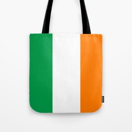 Irish national flag - Flag of the Republic of Ireland, (High Quality Authentic Version) Tote Bag