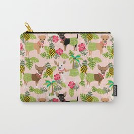 Chihuahua hawaii hula tropical island pineapple dog breed chihuahuas pet pattern Carry-All Pouch