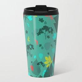 Leaf Blue Pattern Travel Mug