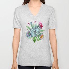 Exotic flower garden Unisex V-Neck