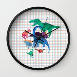 Triassic Plaid Wall Clock