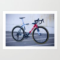 Ritte Ace Tricolor Red Art Print