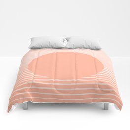 The Sweet Life Collection - Peach Coral Sun Gradient Comforters