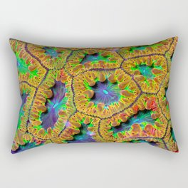 Electric Blastomussa Wellsi (blast coral) Rectangular Pillow