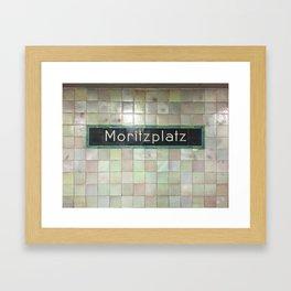 Berlin U-Bahn Memories - Moritzplatz Framed Art Print