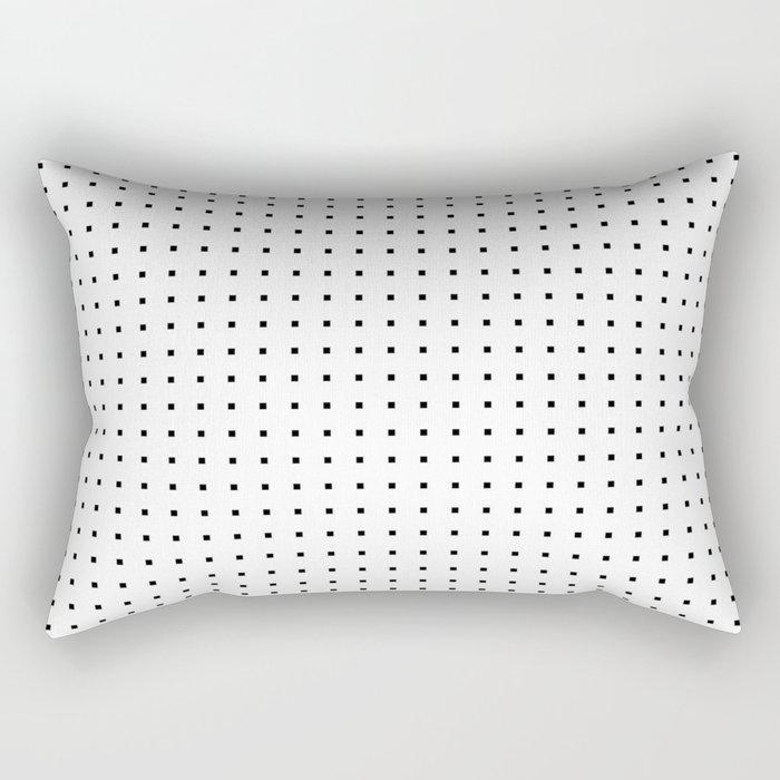 Black on White Rectangular Pillow
