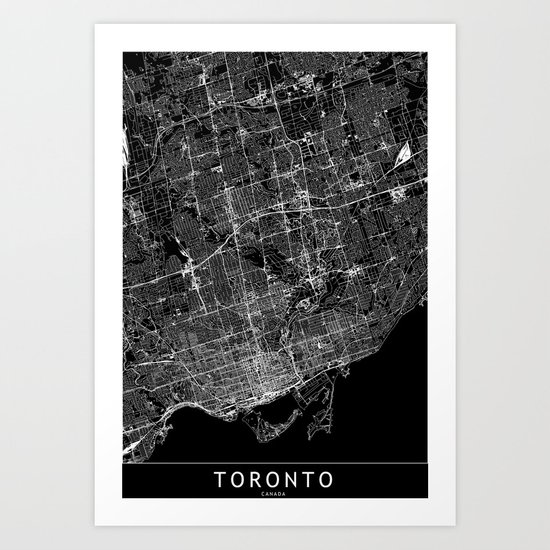 Toronto Black Map by multiplicity
