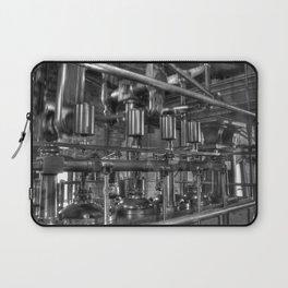 Steam valves in black and white Laptop Sleeve