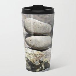 Balance Stacked Rocks Yellowstone National Park Metal Travel Mug