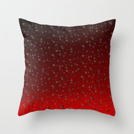 Safe with me ombre Throw Pillow