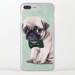 Angry Pug Clear iPhone Case