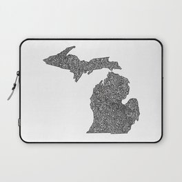 Michigan Map Laptop Sleeve