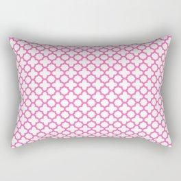 Hot Pink Quatrefoil Pattern Rectangular Pillow