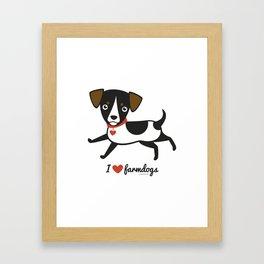 I love farmdogs Framed Art Print