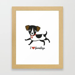 I love farmdogs Framed Art Print