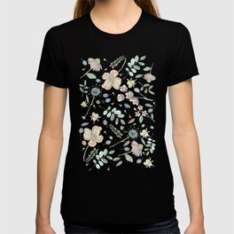 Country Flowers - Tan T-shirt