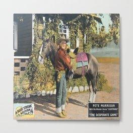 Vintage Western Cowboy Movie Poster Metal Print