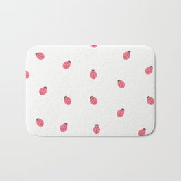 Kawaii Cute Lady Bug Pattern Bath Mat