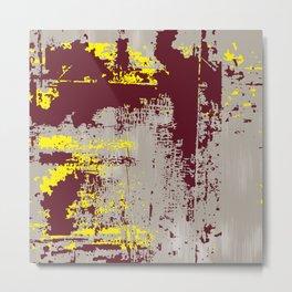 Grunge Paint Flaking Paint Dried Paint Peeling Paint Beige Yellow Red Metal Print