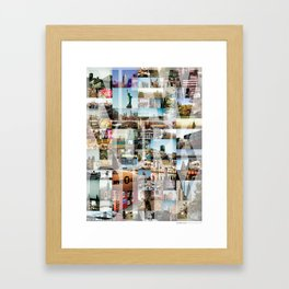NEW YORK CITY MONTAGE Framed Art Print