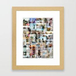 NEW YORK CITY MONTAGE Framed Art Print